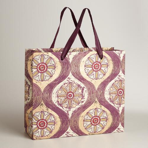 Extra-Large Maison Medallion Handmade Gift Bag