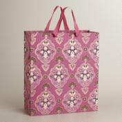 Extra-Large Pink Inverness Handmade Gift Bag