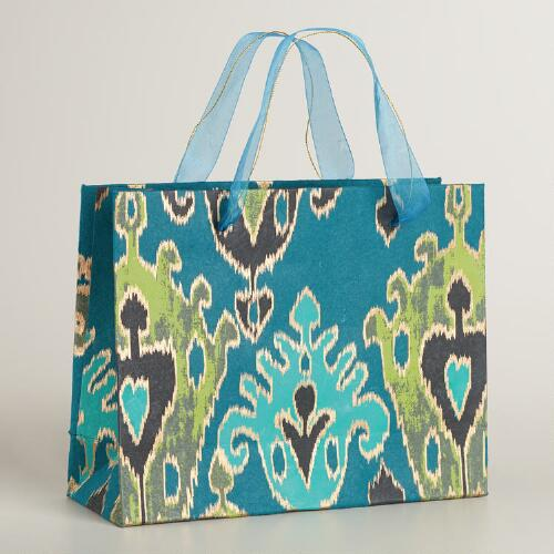 Large Dark Green Aberdeen Handmade Gift Bag