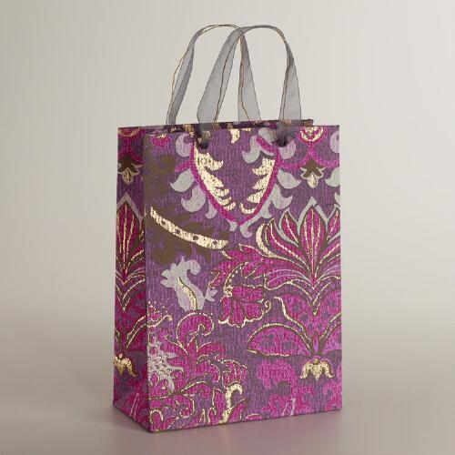 Large Purple Scottish Mist Handmade Gift Bag