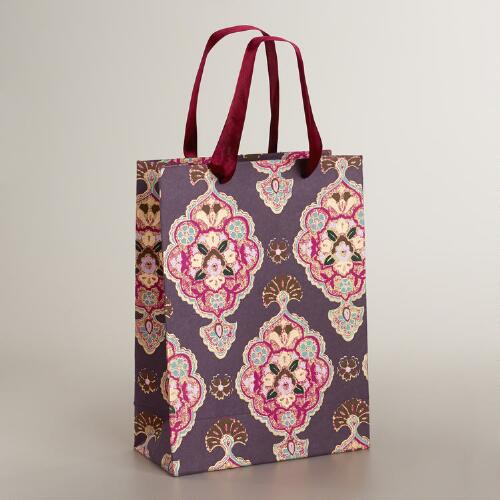 Large Purple Inverness Handmade Gift Bag