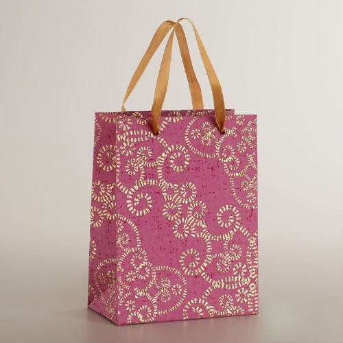 Small Pink Nouveau Gate Handmade Gift Bag