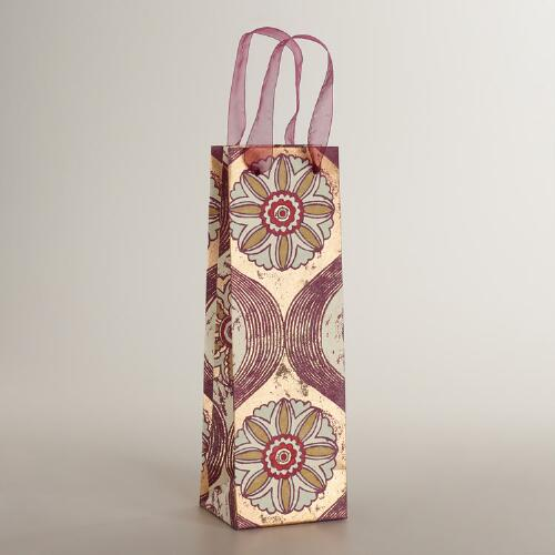 Maison Medallion Handmade Wine Bag