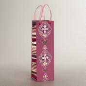 Pink Inverness Handmade Wine Bag