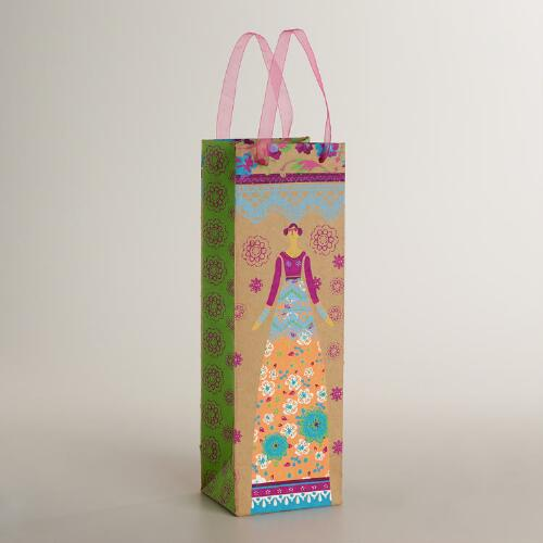 Doll Handmade Paper Wine Bag