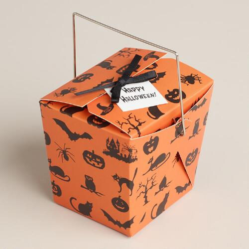 Mini Orange Halloween Takeout Box