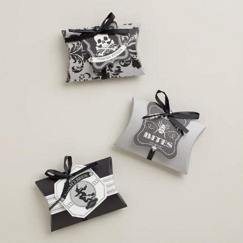Spooky Halloween Pillow Boxes, Set of 3