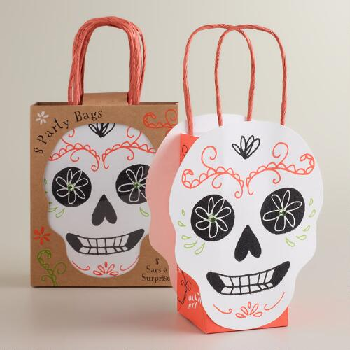 Meri Meri Eek! Day of the Dead Gift Bags, Set of 8