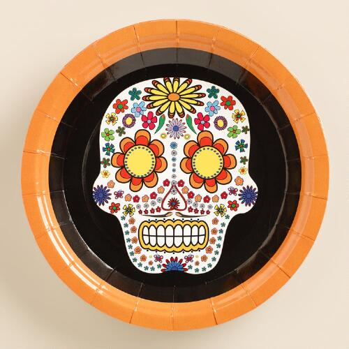 Day of the Dead Paper Plate