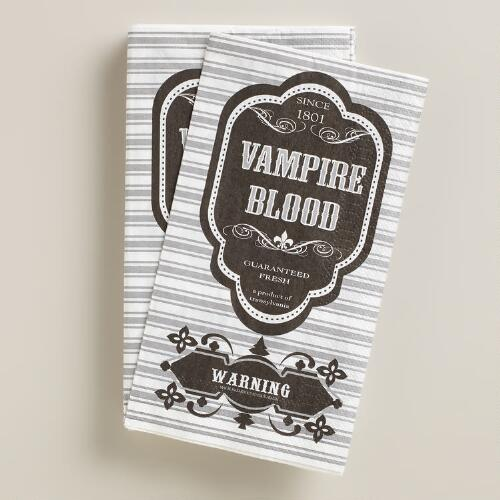 Vampire Blood Halloween Guest Napkins, 16-Count