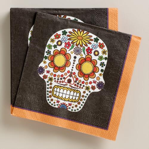 Day of the Dead Beverage Napkins, 16-Count