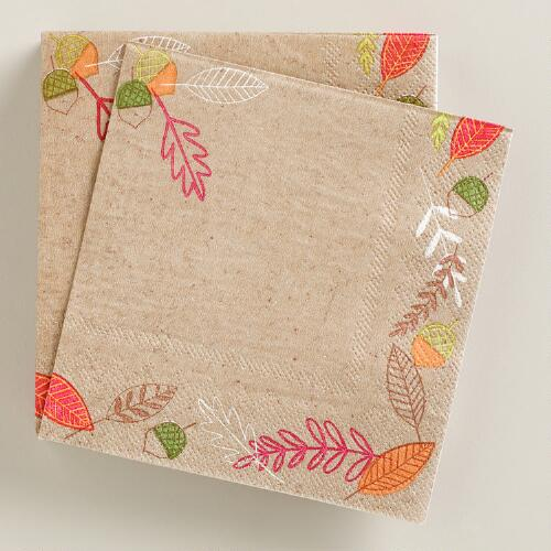 Harvest Beverage Napkins, 20-Count