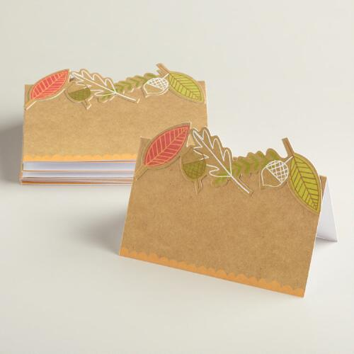 Harvest Kraft Place Cards, 10-Count