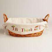 'Be Thankful' Harvest Lined Basket