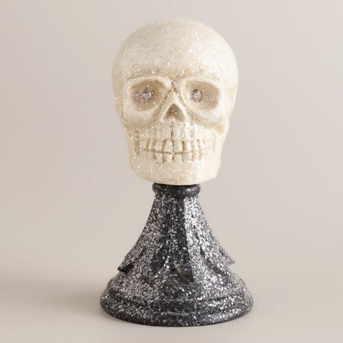 Skull on Stand Decor