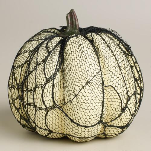 Mini Lace White Pumpkin