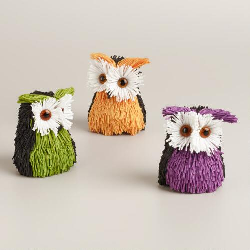 Glitter Paper Owls, Set of 3