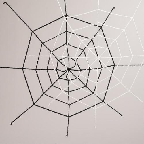 Black and White Spider Webs, Set of 2