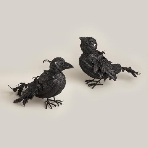 Paper Pulp Crows, Set of 2