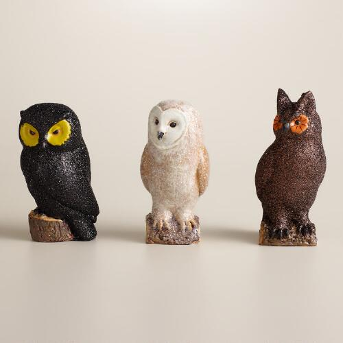 Mini Paper Pulp Owls, Set of 3