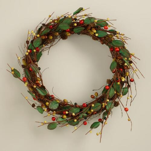 Acorns, Berries and Leaves Wreath