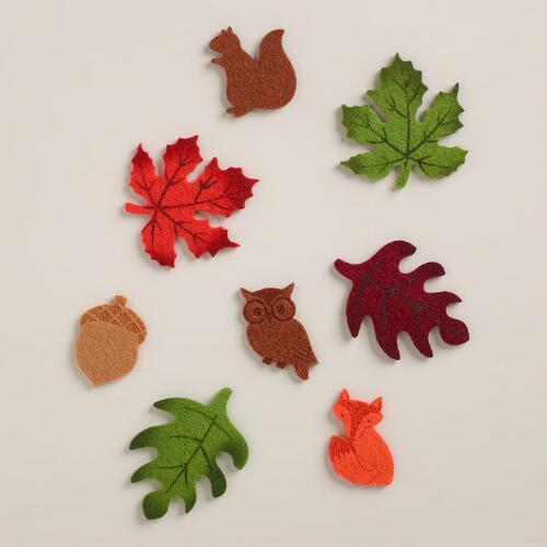 Felt Autumn Leaf Scatters, 40 Pieces