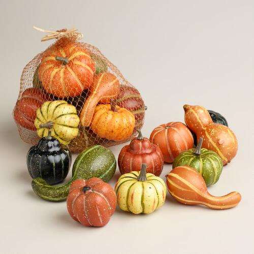 Thanksgiving Gourds, Set of 22