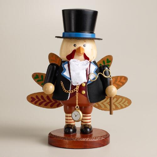 Wooden Turkey Nutcracker