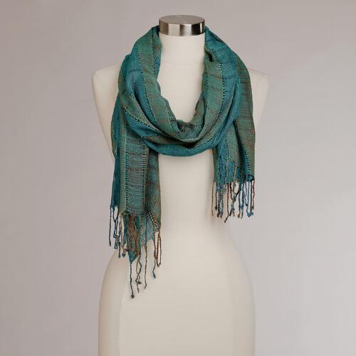 Turquoise Woven Scarf