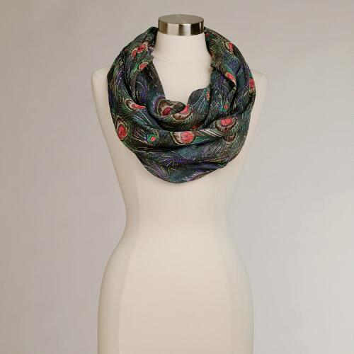 Peacock Infinity Scarf