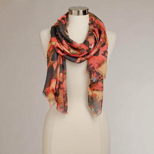 Warm Abstract Scarf