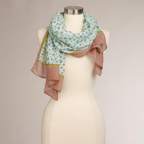 Mint Animal Print Scarf