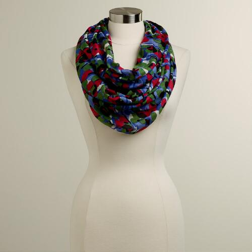 Water Floral Infinity Scarf