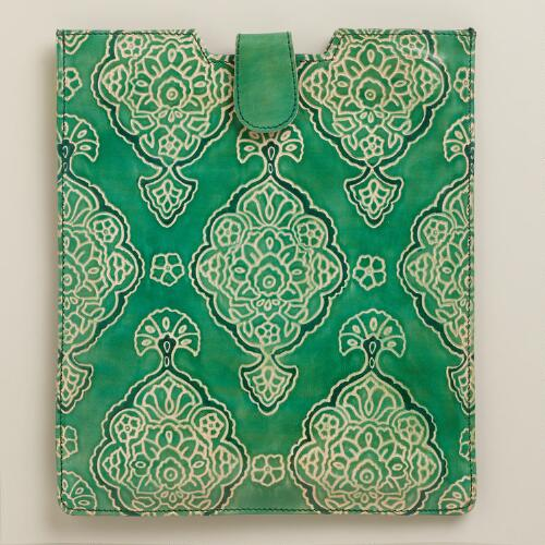 Green Medal Leather iPad Case