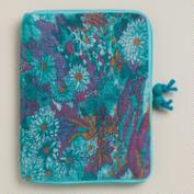 Blue Floral Felt iPad Case