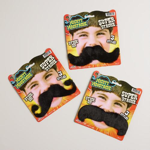 Mighty Moustache Stick On Moustaches, Set of 3