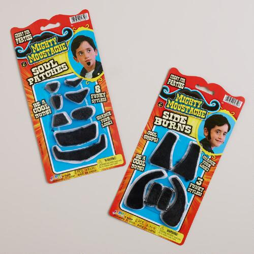 Stick On Sideburns and Soul Patches, Set of 2