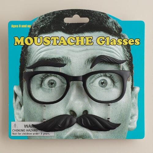 Windup Moustache Glasses