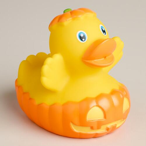 Pumpkin Rubber Duck