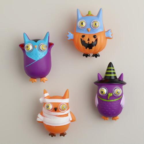 Halloween Pop-Eye Owls, Set of 4