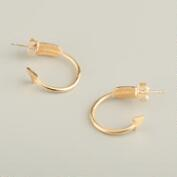 Gold Arrow Hoop Earrings