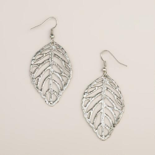 Silver-Leaf Earrings