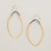 Gold and Labradorite Drop Earrings