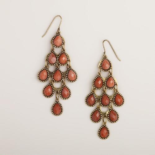 Rust Tiered Chandelier Earrings