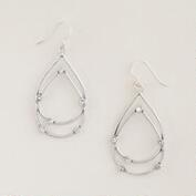 Silver Stationary Stone Drop Earrings