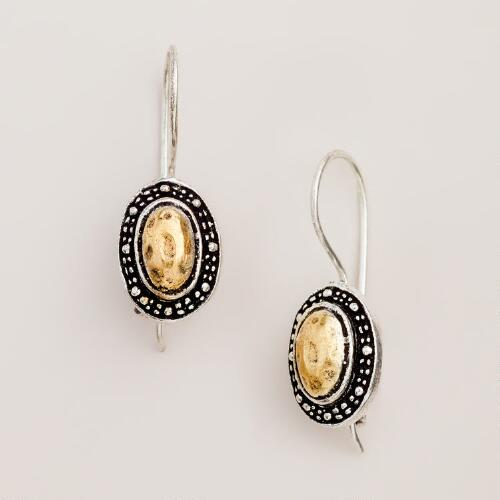 Two Tone Tribal Drop Earrings
