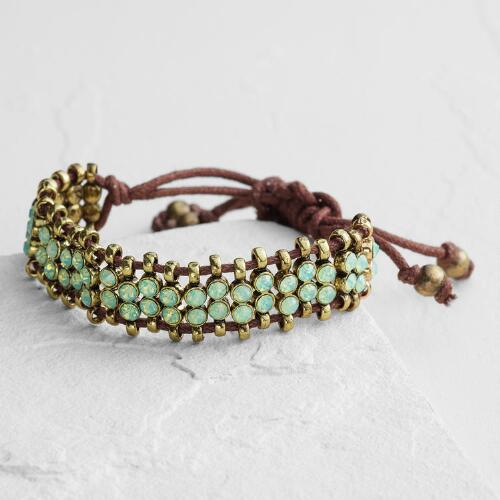 Pacific Opal Rhinestone Friendship Bracelet