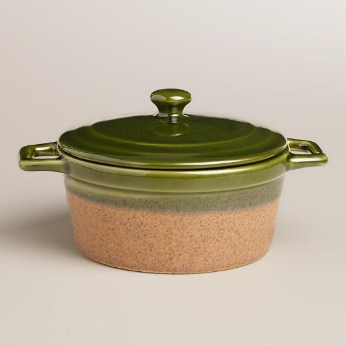 Round Telluride Covered Casserole Baker