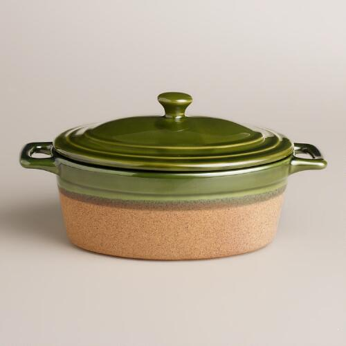Oval Telluride Covered Casserole Baker