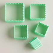 Mint Square Reversible Cookie Cutters, Set of 5